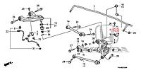 Втулки заднего стабилизатора( Accord CU)