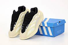 Мужские кроссовки Adidas Yeezy 700 V3 Azael. Beige Black. ТОП Реплика ААА класса.