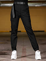 Женские карго брюки BEZET Eva black '20, женские черные карго брюки