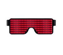 Красные светодиодные очки со встроенным аккумулятором, 8 режимов работы. Светодиодные Led El очки