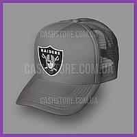 Кепка Тракер Oakland Raiders 'Legend Logo'   Серая