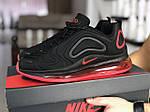 Мужские кроссовки Nike Air Max 720 (черно-красные) 8929, фото 3