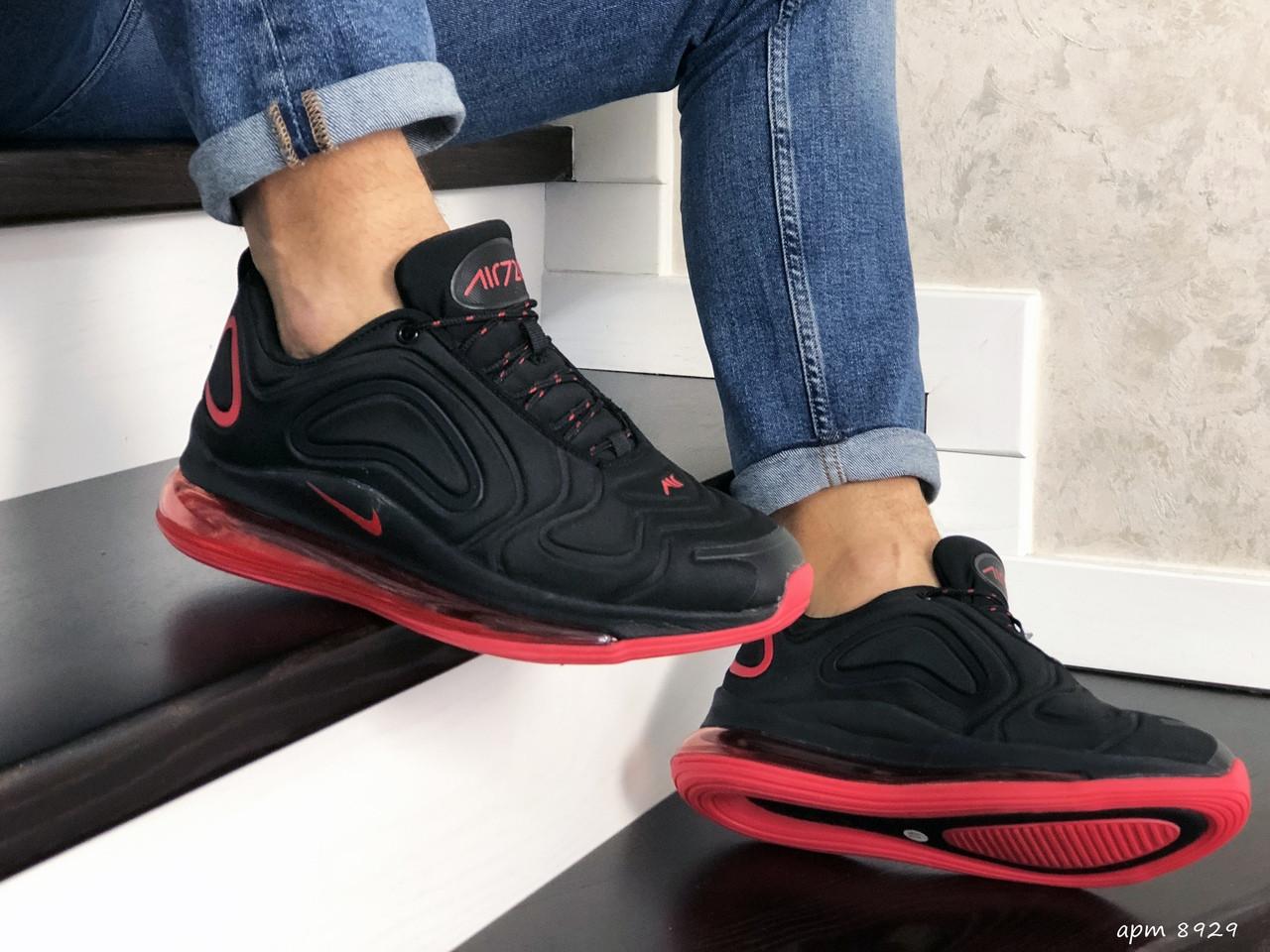 Мужские кроссовки Nike Air Max 720 (черно-красные) 8929