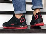Мужские кроссовки Nike Air Max 720 (черно-красные) 8929, фото 4