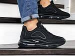 Чоловічі кросівки Nike Air Max 720 (чорні) 8931, фото 4