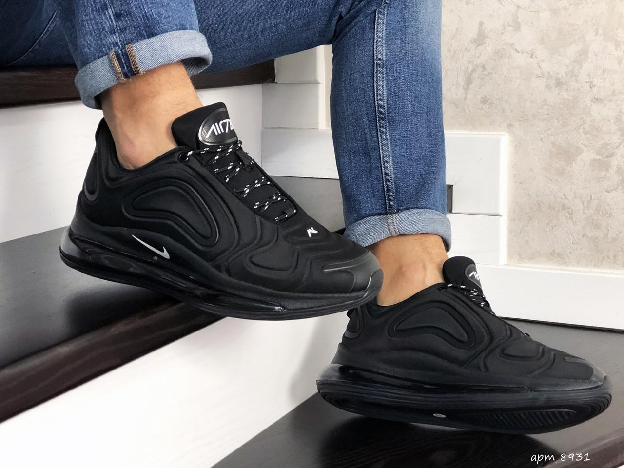 Мужские кроссовки Nike Air Max 720 (черные) 8931