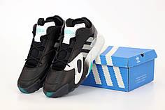 Мужские кроссовки Adidas Streetball Black черные. ТОП Реплика ААА класса.