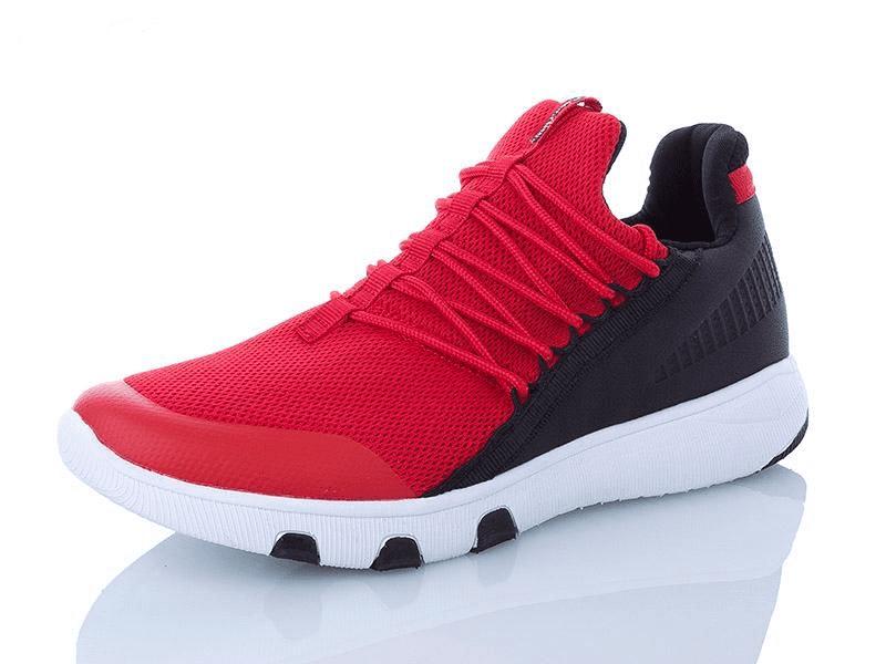Легкие кроссовки Restime мужские сетка красные с черным
