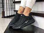 Жіночі кросівки Nike Air Max 720 (чорні) 8933, фото 2
