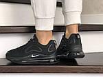 Жіночі кросівки Nike Air Max 720 (чорні) 8933, фото 4