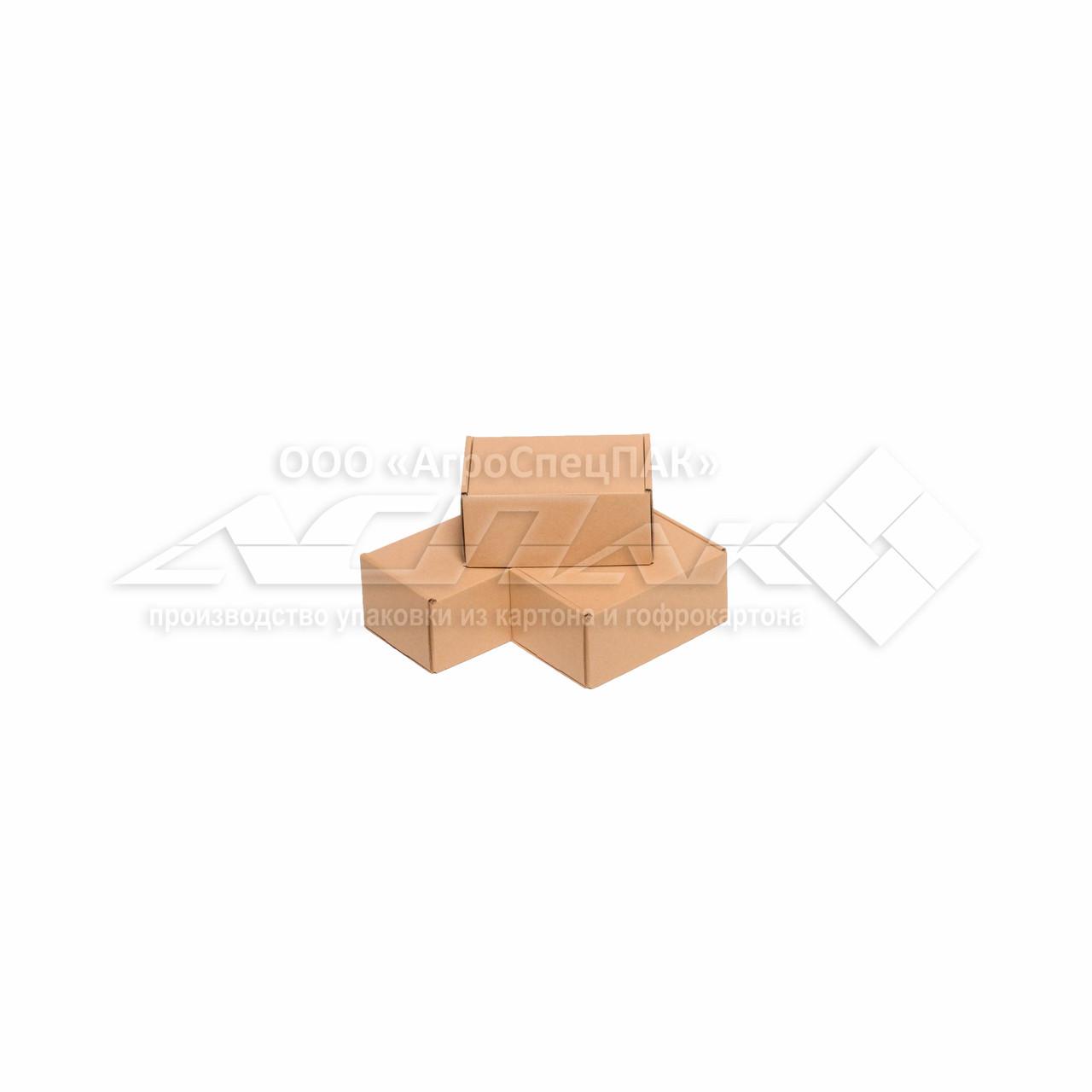 Картонные коробки 150*100*70 крафт - фото 2