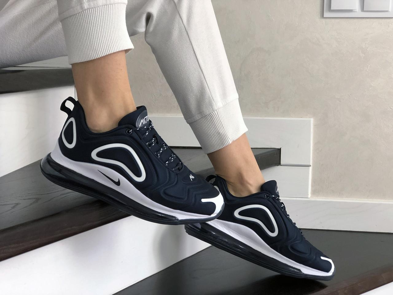 Женские кроссовки Nike Air Max 720 (темно-синие с белым) 8934