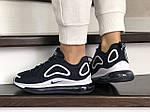 Женские кроссовки Nike Air Max 720 (темно-синие с белым) 8934, фото 4