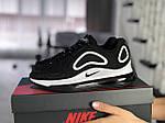 Женские кроссовки Nike Air Max 720 (черно-белые) 8935, фото 2