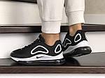 Женские кроссовки Nike Air Max 720 (черно-белые) 8935, фото 3