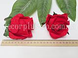 """Голова розы """"Дуэт"""" 8см, красная, фото 2"""