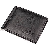 Мужской зажим для денег на магните ST Leather 18945 Черный, Черный