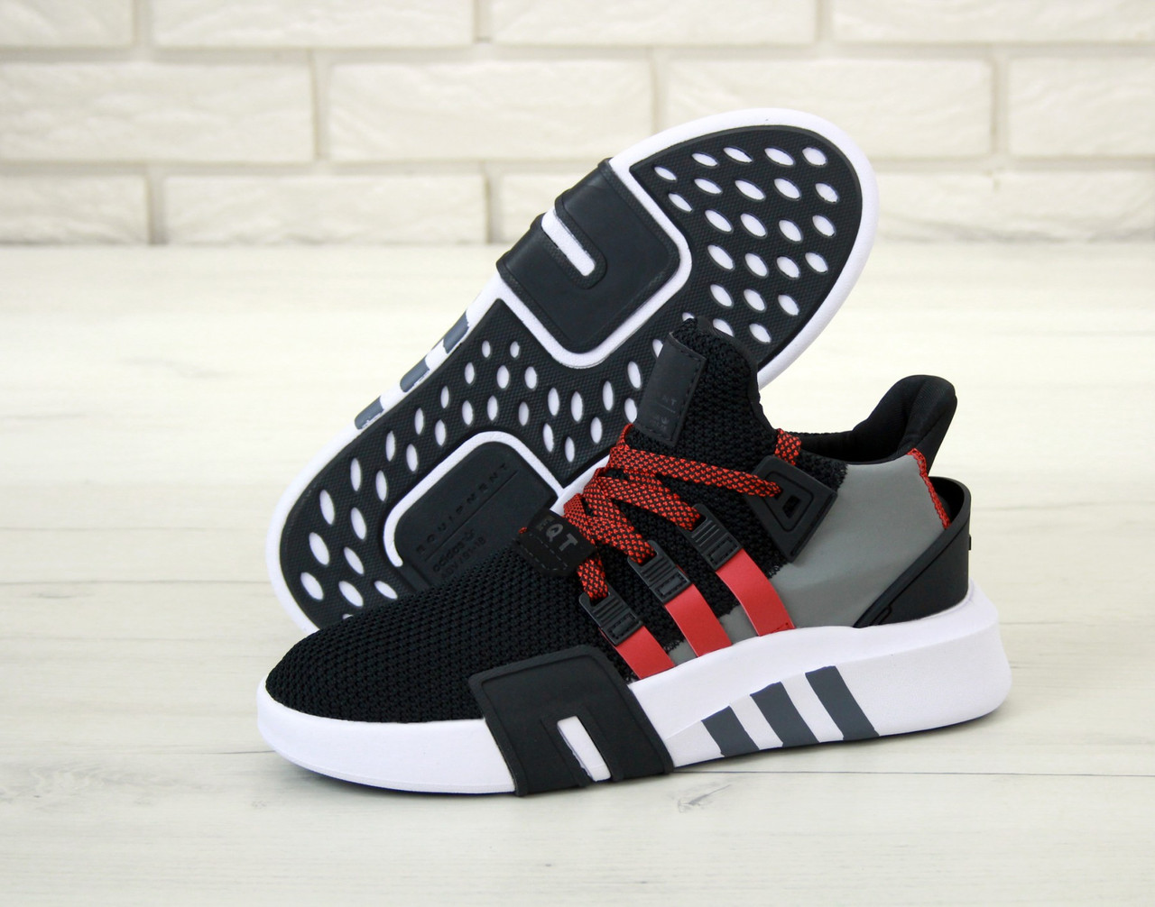 Мужские кроссовки Adidas EQT Basketball ADV Black  . ТОП Реплика ААА класса.