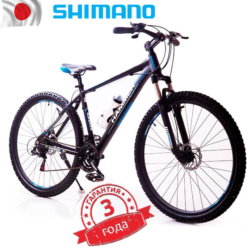Горный Велосипед Найнер HAMMER-29 Черно-Синий Япония Shimano на рост от 190 см