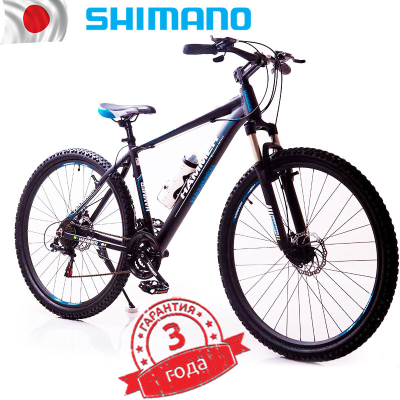 Велосипед HAMMER-29 Black Blue Япония Shimano.