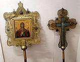 Реставрация старой запрестольной иконы из латуни, фото 4