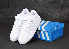 Мужские кроссовки Adidas Forum. White.  ТОП Реплика ААА класса.