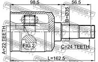 ШРУС внутренний левый 22X35X24 MAZDA MX-3 (EC) / MAZDA DEMIO (DW) 1987-2003 г.