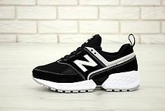 Мужские кроссовки New Balance 574 Sport V2 Black White. ТОП Реплика ААА класса.
