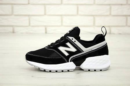 Мужские кроссовки New Balance 574 Sport V2 Black White. ТОП Реплика ААА класса., фото 2