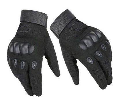 Тактические перчатки полнопалые Oakley черные