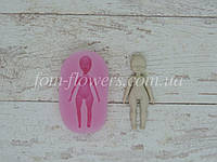 Силиконовый молд (форма) Fom-flowers для создания Куклы Поли 4,5х2 см, 1 шт.