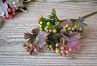 Веточка с листочками и ягодами сиренево розовая - 40 грн (6 веточек)