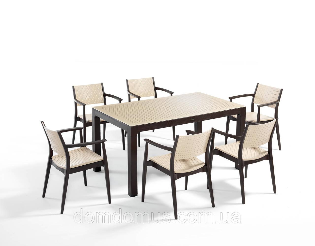 """Комплект высококачественной мебели """" SEGINUS FOR 6""""   (стол 90*150, 6 кресла) Novussi, Турция"""