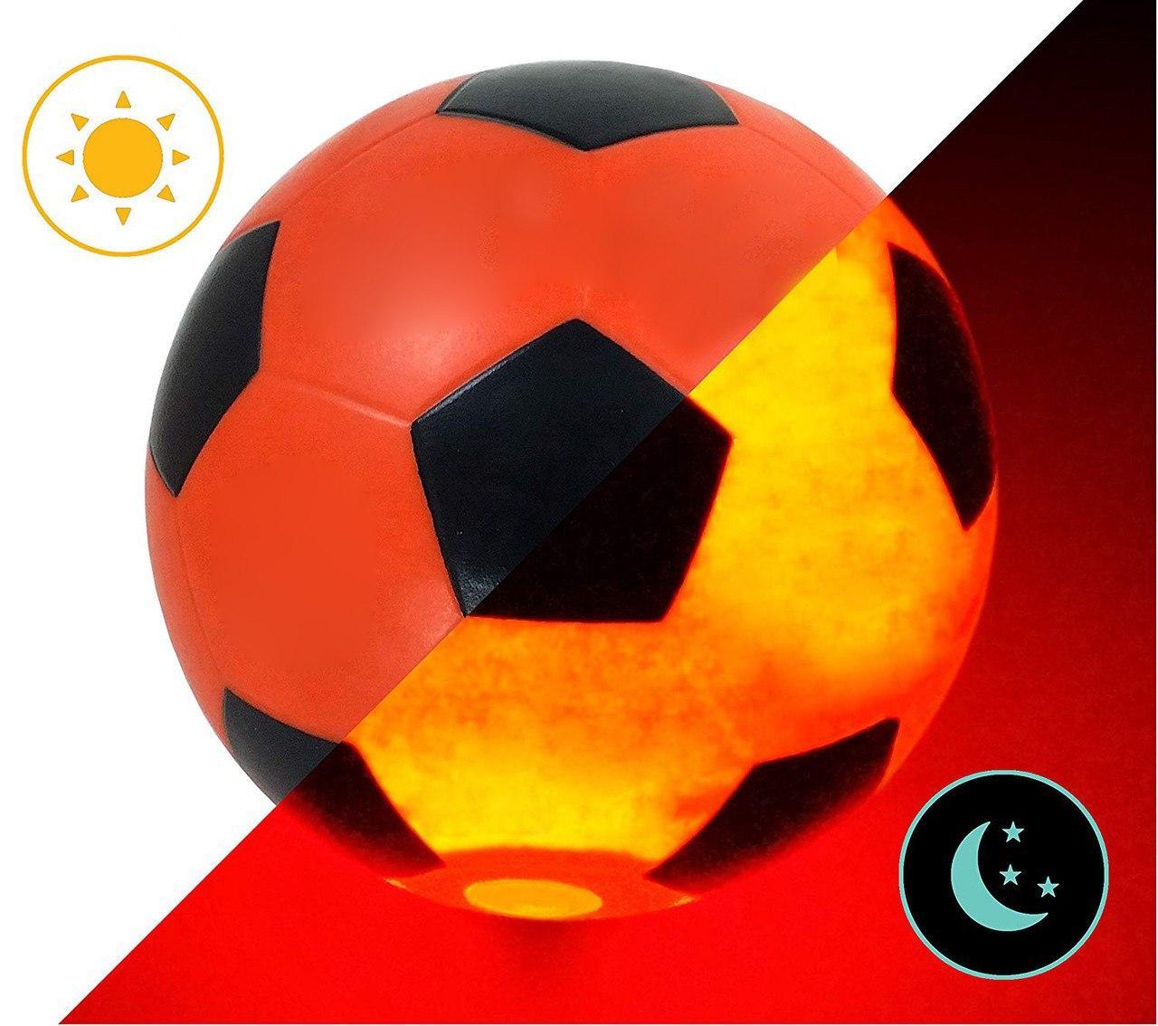 Мяч футбольный с LED Подсветкой Jymindge 5 размер   Светящийся футбольный мяч