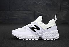 Мужские кроссовки New Balance 574 Sport V2 White. ТОП Реплика ААА класса.