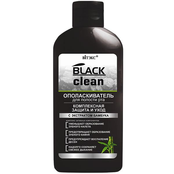 """Ополаскиватель для полости рта """"Комплексная защита и уход"""" Витекс Black Clean 285 мл"""