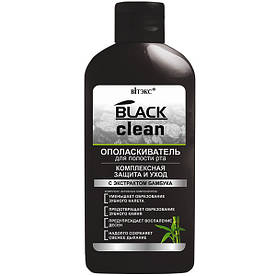 """Ополіскувач для порожнини рота """"Комплексний захист і догляд"""" Вітекс Black Clean 285 мл"""