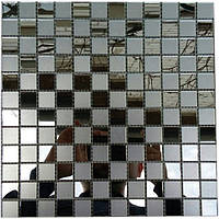 Зеркальная мозаика с матовым стеклом Mix 00 шахматка