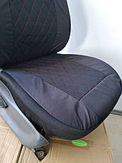 Чохли на сидіння авто універсальні LUXE (спинка деленка) червона рядок, фото 2