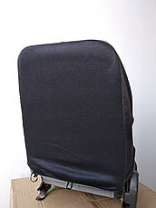 Чехлы на сиденья авто универсальные LUXE (спинка деленка) серая строчка, фото 3