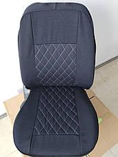 Чохли на сидіння авто універсальні LUXE (спинка деленка) сіра рядок, фото 2