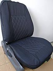 Чохли на сидіння авто універсальні LUXE (спинка деленка) сіра рядок, фото 3