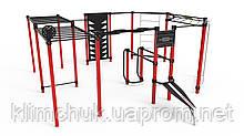 Гімнастичний комплекс Workout 4 на 12 чоловік для спортивних майданчиків KidSport