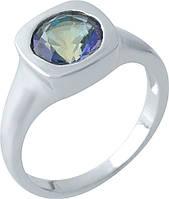 Серебряное кольцо SilverBreeze с натуральным мистик топазом (1972281) 17.5 размер
