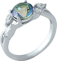 Серебряное кольцо SilverBreeze с натуральным мистик топазом (1960912) 16.5 размер