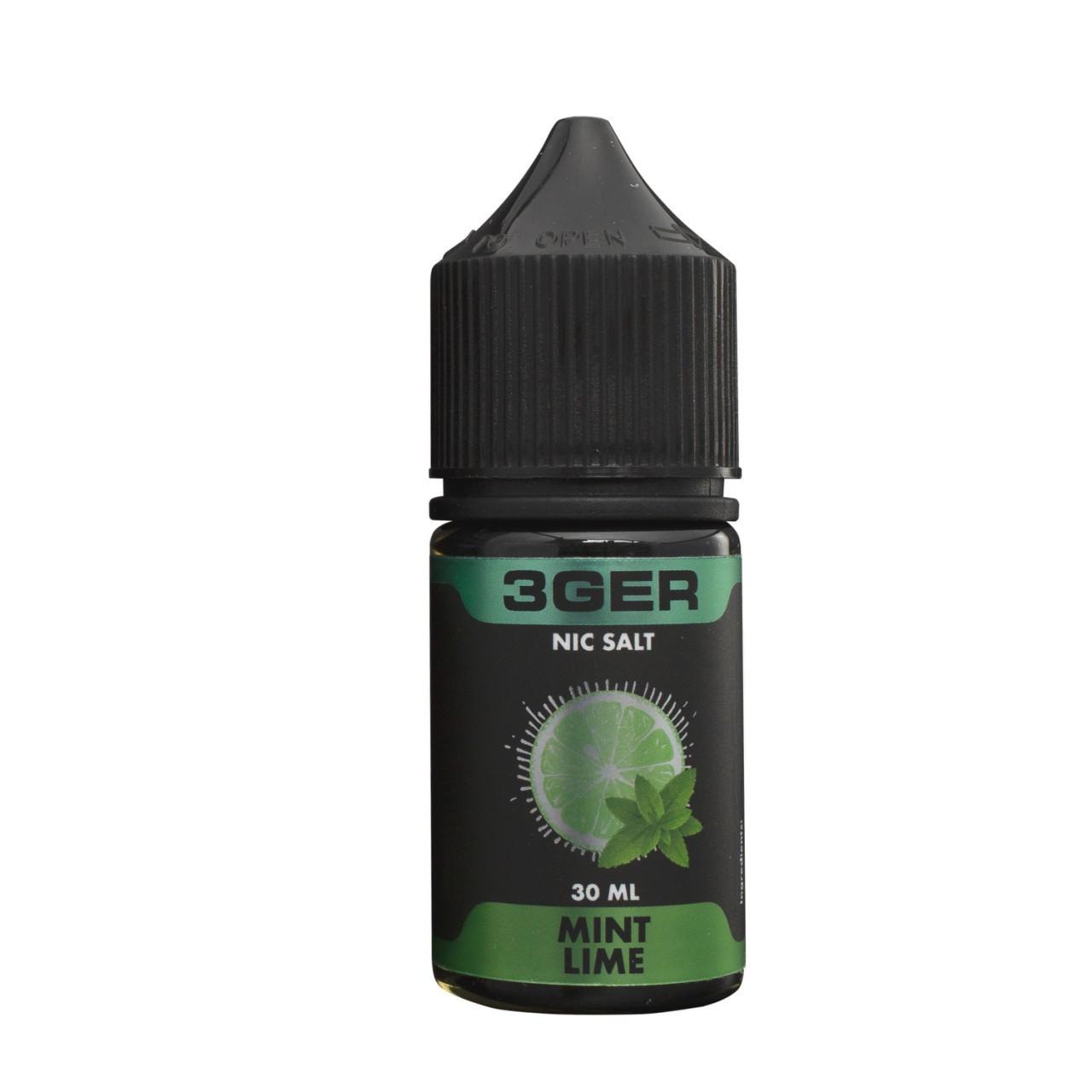 Жидкость 3Ger Salt Mint Lime 25 мг 30 мл