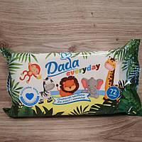 Детские влажные салфетки Dada (Дада) everyday 72 шт.