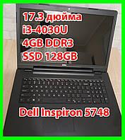 """Dell Inspiron 5748 17.3"""" i3-4030U 1.90Ghz / 4GB DDR3 / SSD 128GB / Intel HD 4400 / Win7"""
