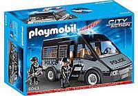 Игровой набор Playmobil бронированный Фургон полиции с сиреной, 6043
