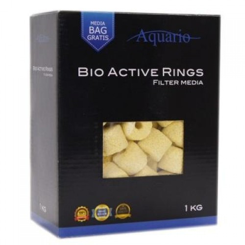 Наполнитель для биологической фильтрации Aquario Bio-Active Rings 1кг